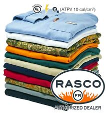 New-Rasco Fr Flame Resistant Long Sleeve Henley T-Shirt-All Colors Fast Shipping