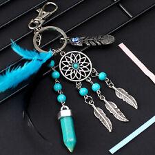 Dream Catcher Metal Keyring Native American Feather Keychain Holder Handbag Gift