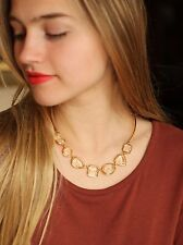 Kate Spade Vegas Jewels FACETS COLLAR Necklace GOLD CRYSTAL CLEAR SIMPLE