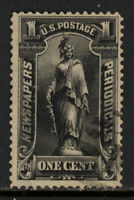 "SCOTT PR114 1896 1 CENT ""FREEDOM"" NEWSPAPER ISSUE USED F-VF CAT $17!"