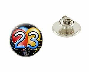23rd Birthday 25mm Metal Pin Badge Tie Pin Brooch Ideal Birthday Gift N425