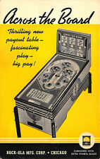 "Chicago IL Rock-Ola-Mfg. Corp ""Across The Board Pinball Machine"" Postcard"