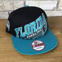 Florida Marlins New Era 9 Fifty Snapback Hat Cap MLB Baseball Bold Big Logo