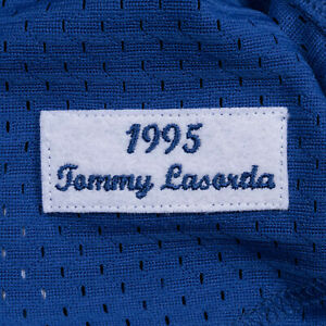 Mitchell Ness Angeles Dodgers Tommy Lasorda 1995 Authentic Mesh BP Jersey 4XL 60