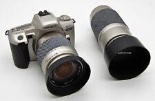 Minolta Dynax 404si 35mm Film Camera + Tokina 28-80mm & Tokina 100-300mm