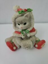 Calico Kittens Wrapped in the Warmth of Friendship Enesco 1993 Snowball C131713