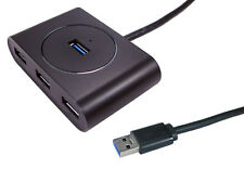 USB 3.0 4 PORT Powered HUB with PSU 5Gbps USB 3 Super Speed for PC MAC BLACK