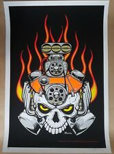 DEAD MOTOR HEAD Art Print 2005 Mike Martin Enginehouse13 Limited 1st Edition100