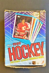 1989 Topps Hockey Box (36 SEALED Packs) Possible Sakic Rookie