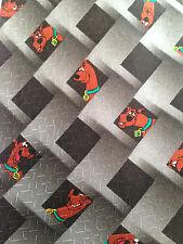 2001 Scooby Doo! Tie Black Silver Geo Diamond Grid Hanna-Barbera Cartoon Network