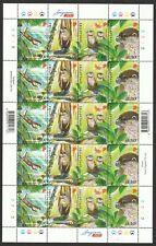 SINGAPORE 2011 ENDANGERED ANIMALS ORIENTAL SMALL CLAWED OTTER FULL SHEET 5 SETS