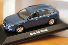 1:43 Audi A6 Avant C6 blue MINICHAMPS stratos blau 0 2 3 4 7 8 TFSI FSI TDI s6