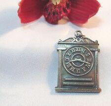 Uhren Anhänger 925 er Silber Uhr Charms Kettenanhänger / ss 166