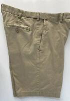 Haggar Cool 18 Pro Flat Front Khaki Men Shorts Size 34
