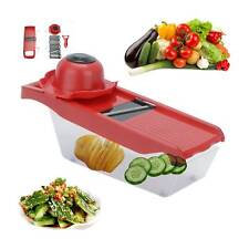 7 in 1 Manual Vegetable Slicer Potato Cutter Stainless Steel Mandoline Kitchen