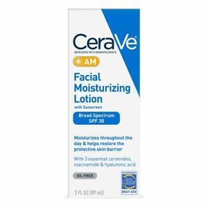 CeraVe Facial Moisturizing Lotion AM SPF 30 | 3 Ounce | Daily Face...
