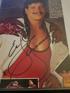 Eddie Guerrero signed Germany WCW Christmas Brawl Tour 1996 Programme page WWE