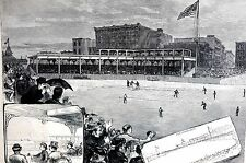 Chicago Illinois New Baseball Grounds 1883 LAKE SHORE PARK Matted Art Engraving