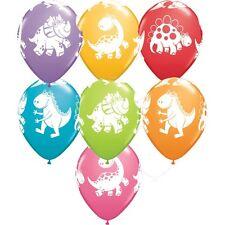 Party Supplies Birthday  Jungle Safari Cute & Cuddly Dinosaurs  Balloons Pk 10