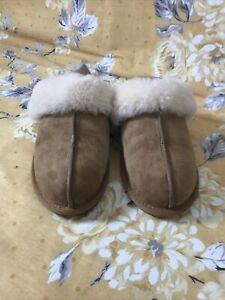 UGG Chestnut Scuffette II Slippers Uk Size 3