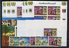 Libyen 584/86 + Kleinbogen + Block 25/28 A + B postfrisch / UPU Flugzeuge 1/88