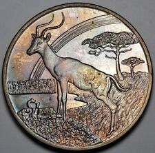 PROOF 2006 SIERRA LEONE 1 DOLLAR IMPALA TONED COLOR BU UNC GEM CHOICE (DR)