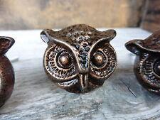 One Metal Copper OWL KNOB Beautiful Detailed - Bird Dresser Cabinet Drawer Pulls