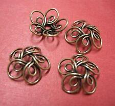 6pc 17mm antique bronze metal bead cap-4946