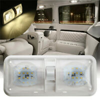 12V Double Dome Ceiling Light Switch 48LED Interior Roof RV Boat Camper Caravan