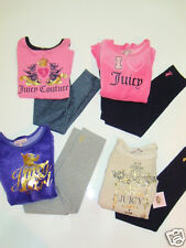 NWT Girls Juicy Couture Scotty Dog Crown Shirt Leggings Pants 5 Outfit Set LOT