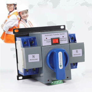 Automatic Transfer Switch Dual Power Generator Changeover Manual Switch 2P/63A