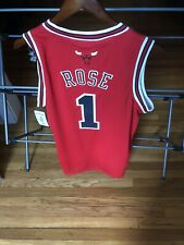 Adidas NBA Chicago Bulls Derrick Rose Red Swingman Basketball Jersey Small +2