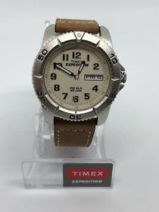 NEW Timex Men's Expedition Metal Field Watch Brown/Natural T46681 Indiglo