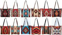 Southwest Style Wool XL Zipper Tote Purse Bag Native Western Style Handwoven
