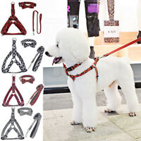 Dog Puppy Adjustable Harnesses Pet Leads Fabric Collars Soft Harness Comfortable