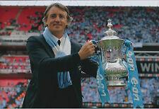 Roberto MANCINI SIGNED Autograph 12x8 Photo AFTAL COA Man City FA Cup Winner