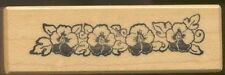 PSX VIOLET FLORAL BORDER C361 Petaluma CA Medium Wood Mount Craft Rubber Stamp