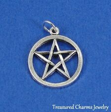 Silver PENTACLE/PENTAGRAM Wiccan Pagan CHARM PENDANT