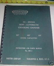Norton 300-3 Semi Automatic Chucking Grinder Manual