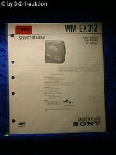 Sony Service Manual WM EX312 Cassette Player (#1990)