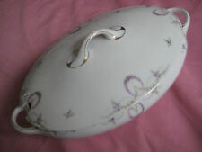 Nobel+schick Porzellan-Terinne der Marke Rosenthal Tizian,oval,Blumenmotiv = TOP