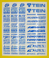 RC Drift BRIGHT BLUE stickers decals HPI Losi Drift-R Kyosho