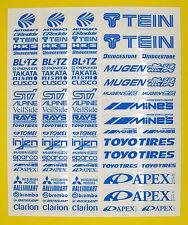 RC Drift bleu BRIGHT Stickers Decals HPI Losi Drift-R Kyosho