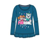Paw Patrol Langarmshirt Mädchen Pullover Gr. 98,104,110,116,128, Blau Neu/Ovp