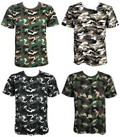 New Boys Camouflage Kids T-shirt Army Woodland Camo Military School POLO 2-13YRS
