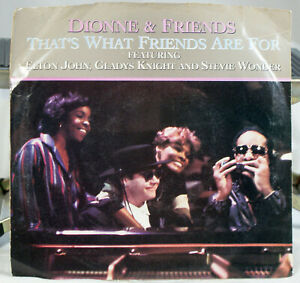 Dionne Warwick and Friends 45 rpm Picture sleeve Record What Are Friends For