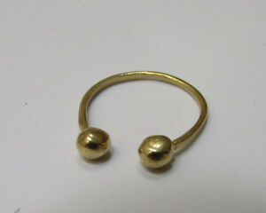 Open Ball Goldfilled Stacking Ring! Little Gold Dot! Thin Delicate Simple Band