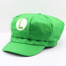Cappello Luigi Nintendo rosso carnevale costume cosplay super bros Super Mario