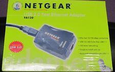 NUOVO Originale Netgear modello fa120 Usb Fast Ethernet Adapter spedizione gratuita nel Regno Unito