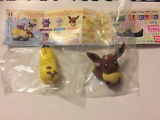 New Japan Bandai Pokémon Hasamundesu Mini Figure Clips Eevee & Pikachu US seller